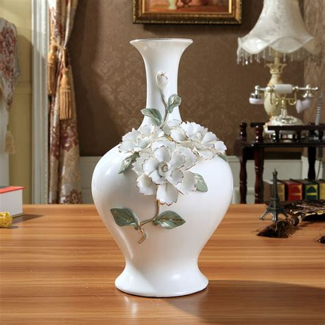 Large Vases For Home Decor | ceramic chinese white modern flowers vase home decor large