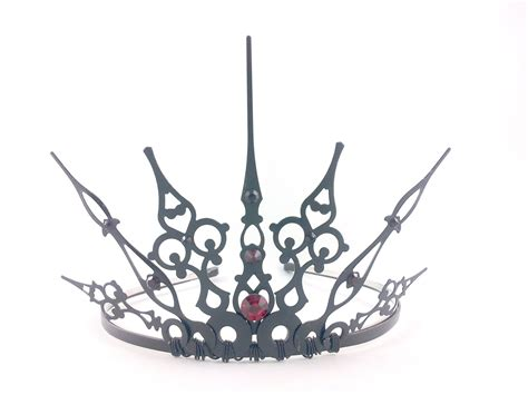 red gothique 2 0 black crown black tiara filigree by