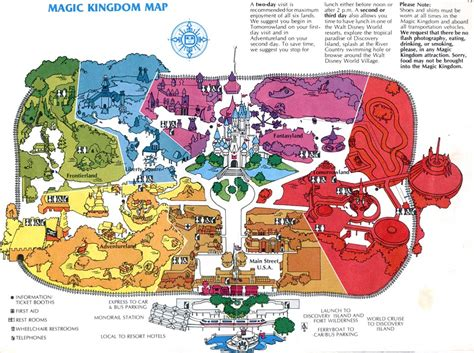 printable world map in sections theme park maps over the years disneyworld vacations