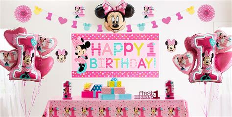 Minnie Mouse St Birthday Decorations by Minnie Mouse 1st Birthday Supplies City