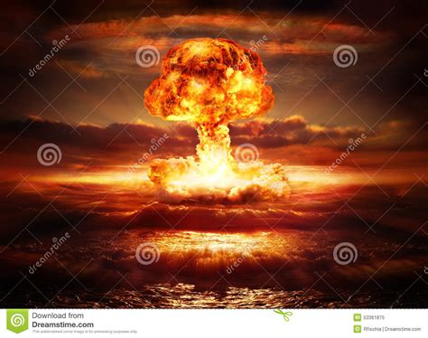Armaggeddon Nuke 7 Yellow explosion nuclear bomb stock photo image 53361875