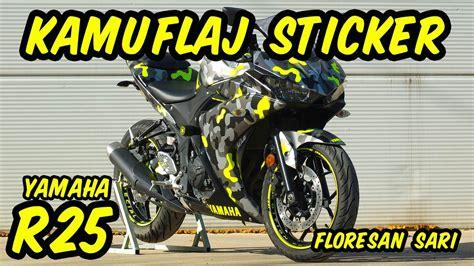 yamaha  kamuflaj sticker camouflage wrap moto