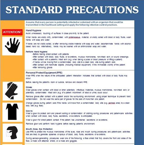 recommendations and universal precautions for the prevention of recommendations and universal precautions for the
