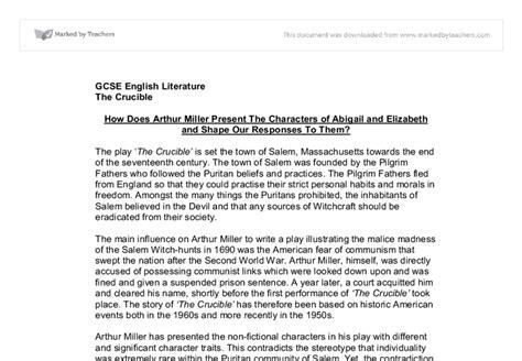 Abigail Essay by Crucible Persuasive Essay Abigail