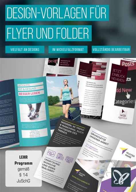 Indesign Vorlage Flyer design vorlagen f 252 r flyer und folder tutkit