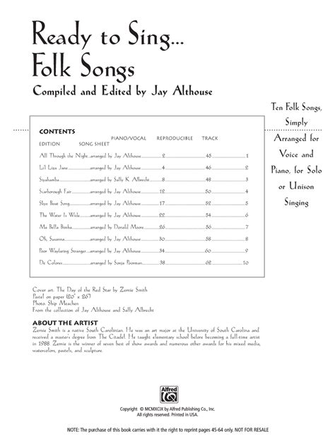 skye boat song jay althouse ready to sing folk songs reproducible book cd j w