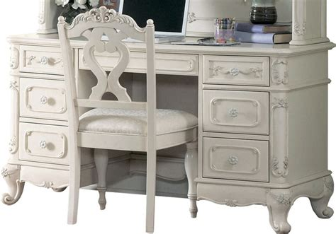 White Desk Accessories Set Homelegance Cinderella 50 Inch Writing Desk In White Desks And Desk Sets By