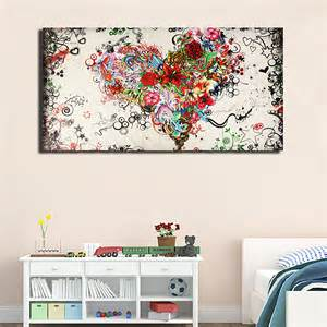 large modern abstract painted painting wall