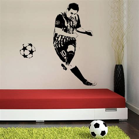 decals wall stickers lionel messi football vinyl wall sticker buy lionel