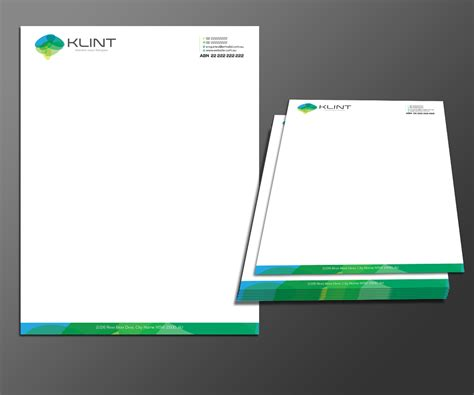 Business Letter Template Design Professional Upmarket Letterhead Design For Klint By Kousik Design 3477492