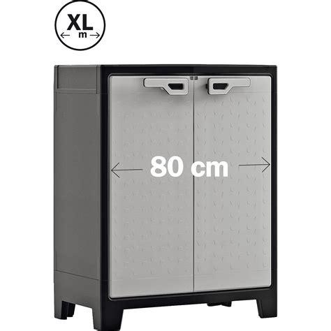 armadio 80 cm kis armadio basso in resina titan 80 cm x 44 cm x 100 cm