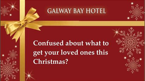 christmas gift vouchers  galway bay hotel youtube