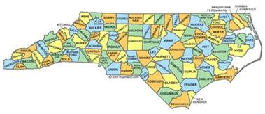 carolina map with cities and counties carolina county map