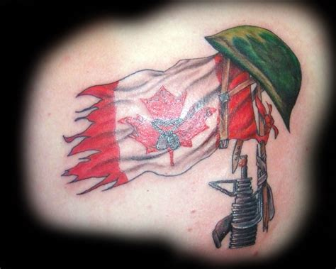 flag tattoo designs canadian flag tattoos designs cool tattoos bonbaden