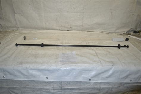 black tension rods for curtains roomdividersnow black tension curtain rod 66in 120in ebay