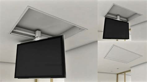 staffe a soffitto per tv tv moving chrs staffa tv motorizzata da soffitto per tv