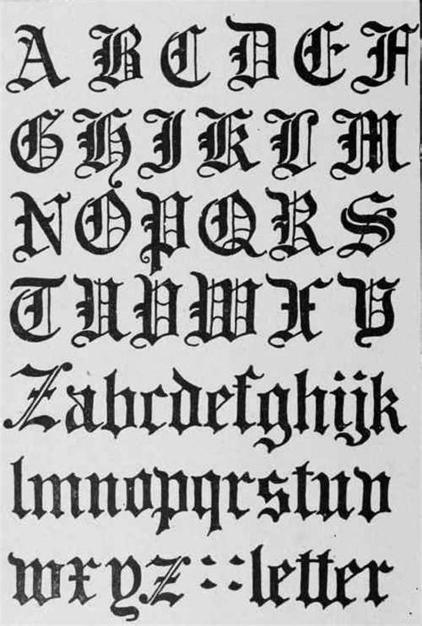 old latin tattoo fonts 8 best images of roman letters different fonts gothic