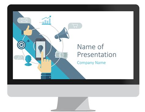 Digital Marketing Powerpoint Template Presentationdeck Com Powerpoint Advertising Templates