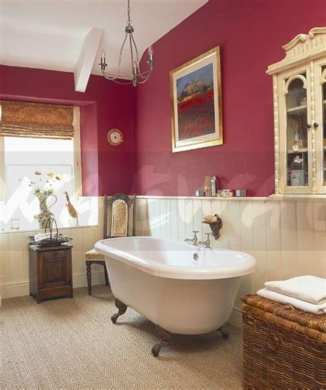pink and cream bathroom image rolltop bath in dark pink bathroom with cream