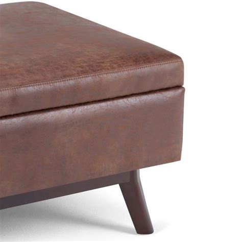 wyndenhall ethan large mid century square coffee table