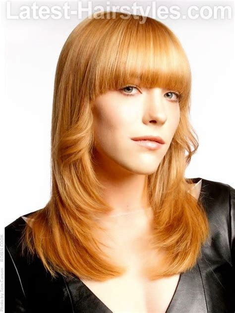 flipped up hairstyles with bangs 17 best images about long hairstyles we love on pinterest