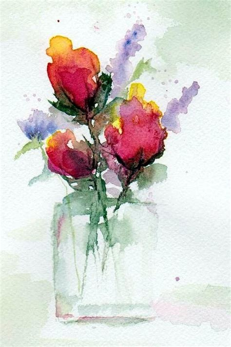 Watercolor Flowers In Vase by In A Vase Hearth And Home Ideas And Poster