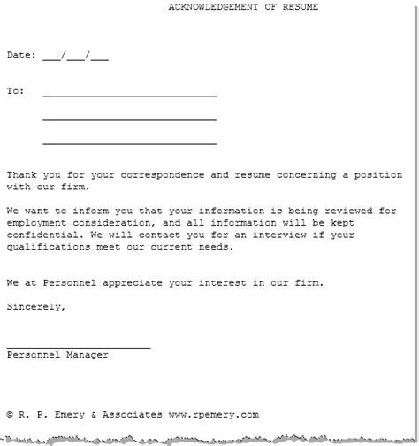 Acknowledgement Letter For Verification Human Resources Workplace Relations Forms Document Templates