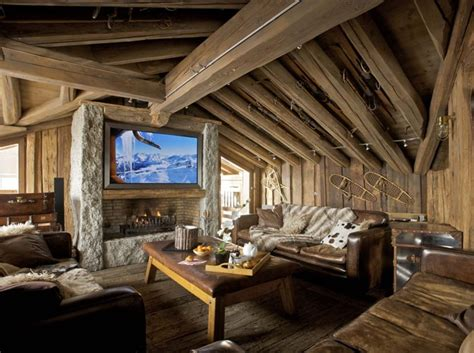 a warm and cozy post and beam living room