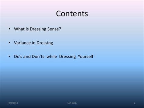dressing sense dressing sense