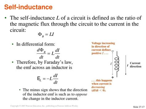 self inductance of an ideal inductor ppt electromagnetic induction powerpoint presentation id 3268182