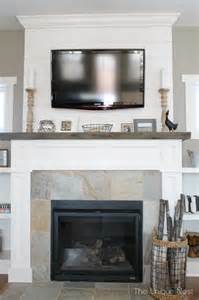 Shiplap Mantle Shiplap Fireplace With Reclaimed Mantle Style