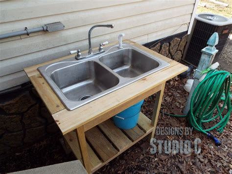Outdoor Kitchen Sink Plumbing Install Outdoor Sink Faucet Angle For The Home Outdoor Sinks Sinks And Faucet