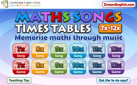 time table 2 song maths songs times tables 7 12x 1 2 apk download android