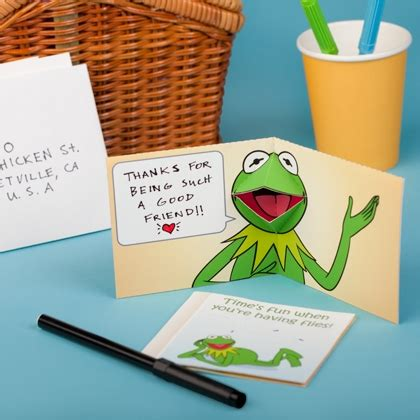 Disney Pop Up Card Template by Kermit The Frog Pop Up Card Disney Family