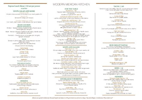 modern mexican kitchen menu savour your taste bud with mexican food from keraton at