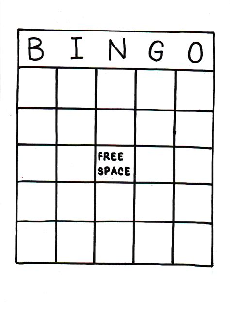 empty bingo card template printable baby bingo cards blank images