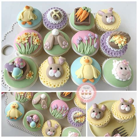 easter class lady berry cupcakes