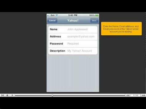 yahoo email on iphone not working how to setup a yahoo email account on your iphone youtube