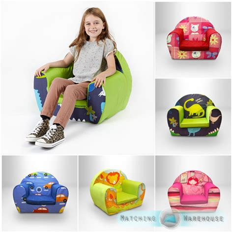 childs foam armchair kids children s comfy soft foam chair toddlers armchair