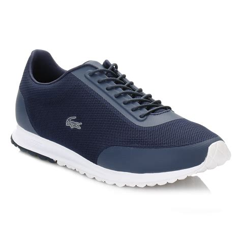 lacoste sports shoes lacoste womens navy blue helaine runner 116 3 spw trainers