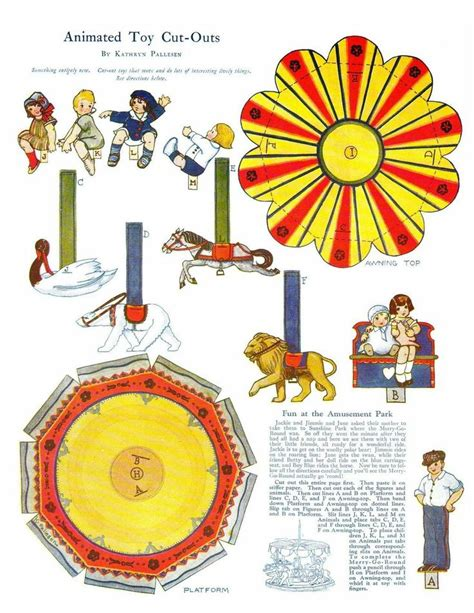 How To Make A Carousel Out Of Paper - free printable merry go paper doll vintage style