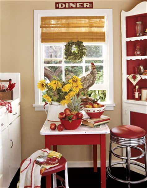 kitchen decorating ideas with red accents style on a budget