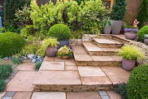 Best Wood For Raised Garden Beds - beautiful patio made of stone with steps plant amp flower stock photography gardenphotos com