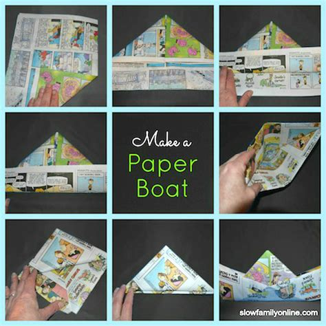 how to make a paper boat in words paper boat tutorial slow family