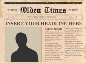 Free Newspaper Template For by Powerpoint Newspaper Template 21 Free Ppt Pptx Potx