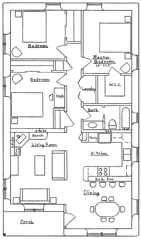 bedroom traditional earthbag house plans