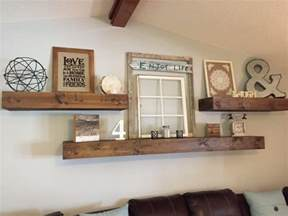 Living Room Wall Decor Shelves Floating Shelves Shanty 2 Chic