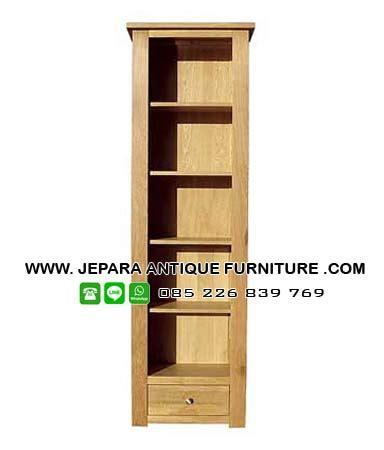 Rak Buku Untuk Kantor model rak buku kantor kayu jati terbaru