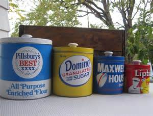 Metal Kitchen Canister Sets by Vintage J L Clark Metal Kitchen Canister Set Pillsbury Domino