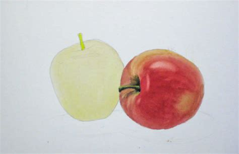 watercolor tutorial apple how to paint an apple with watercolor